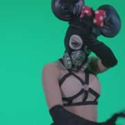 Go-go-Dancer-Latex-Mikki-x3-Green-Screen-Video-Footage_008 Green Screen Stock