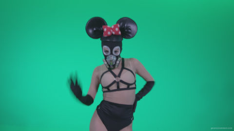 vj video background Go-go-Dancer-Latex-Mikki-x4-Green-Screen-Video-Footage_003