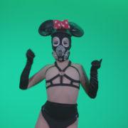 Go-go-Dancer-Latex-Mikki-x4-Green-Screen-Video-Footage_005 Green Screen Stock