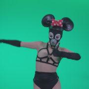 Go-go-Dancer-Latex-Mikki-x4-Green-Screen-Video-Footage_009 Green Screen Stock