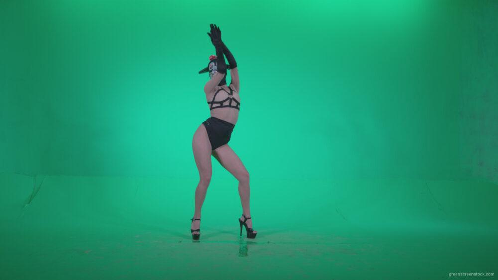 vj video background Go-go-Dancer-Latex-Mikki-x5-Green-Screen-Video-Footage_003