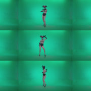 Go-go-Dancer-Latex-Mikki-x6-Green-Screen-Video-Footage Green Screen Stock