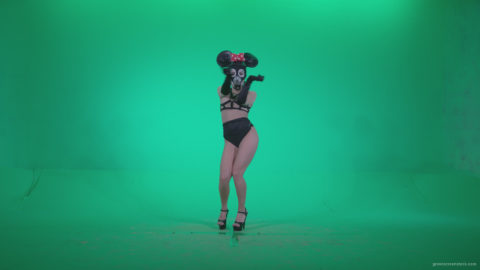 vj video background Go-go-Dancer-Latex-Mikki-x6-Green-Screen-Video-Footage_003