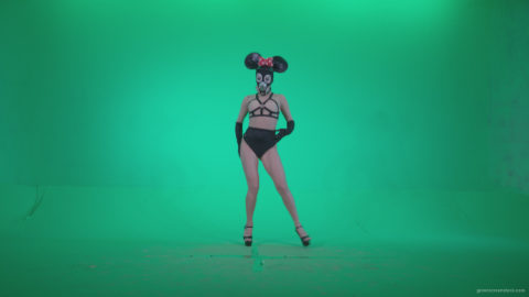 vj video background Go-go-Dancer-Latex-Mikki-x7-Green-Screen-Video-Footage_003