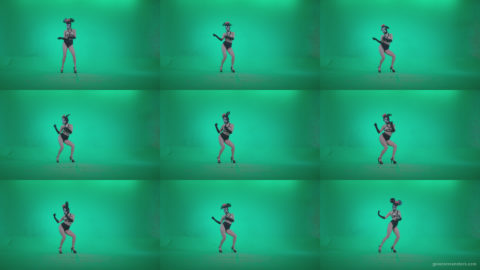 Go-go-Dancer-Latex-Mikki-x8-Green-Screen-Video-Footage Green Screen Stock