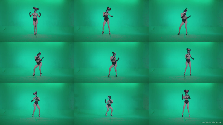 Go-go-Dancer-Latex-Mikki-x9-Green-Screen-Video-Footage Green Screen Stock