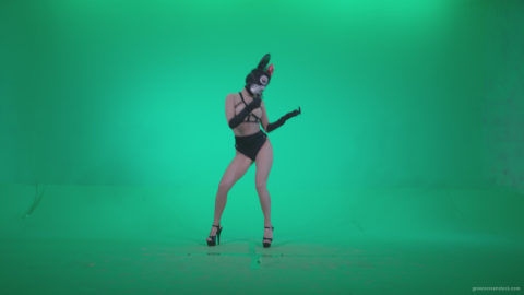 vj video background Go-go-Dancer-Latex-Mikki-x9-Green-Screen-Video-Footage_003