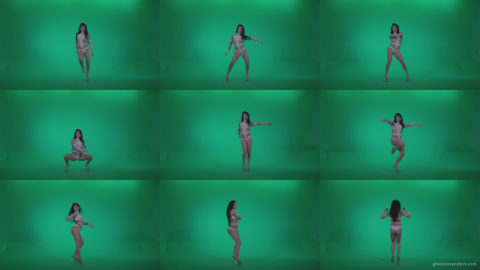 Go-go-Dancer-LiLu-e10-Green-Screen-Video-Footage Green Screen Stock
