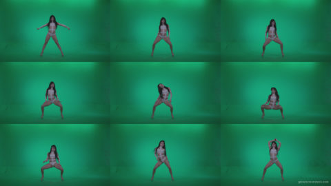 Go-go-Dancer-LiLu-e4-Green-Screen-Video-Footage Green Screen Stock