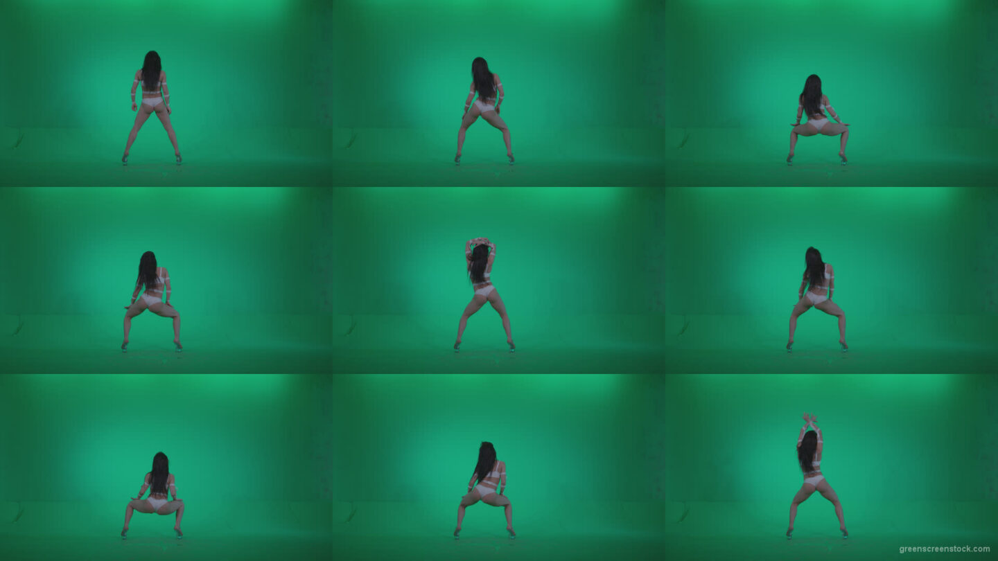 Go-go-Dancer-LiLu-e5-Green-Screen-Video-Footage Green Screen Stock