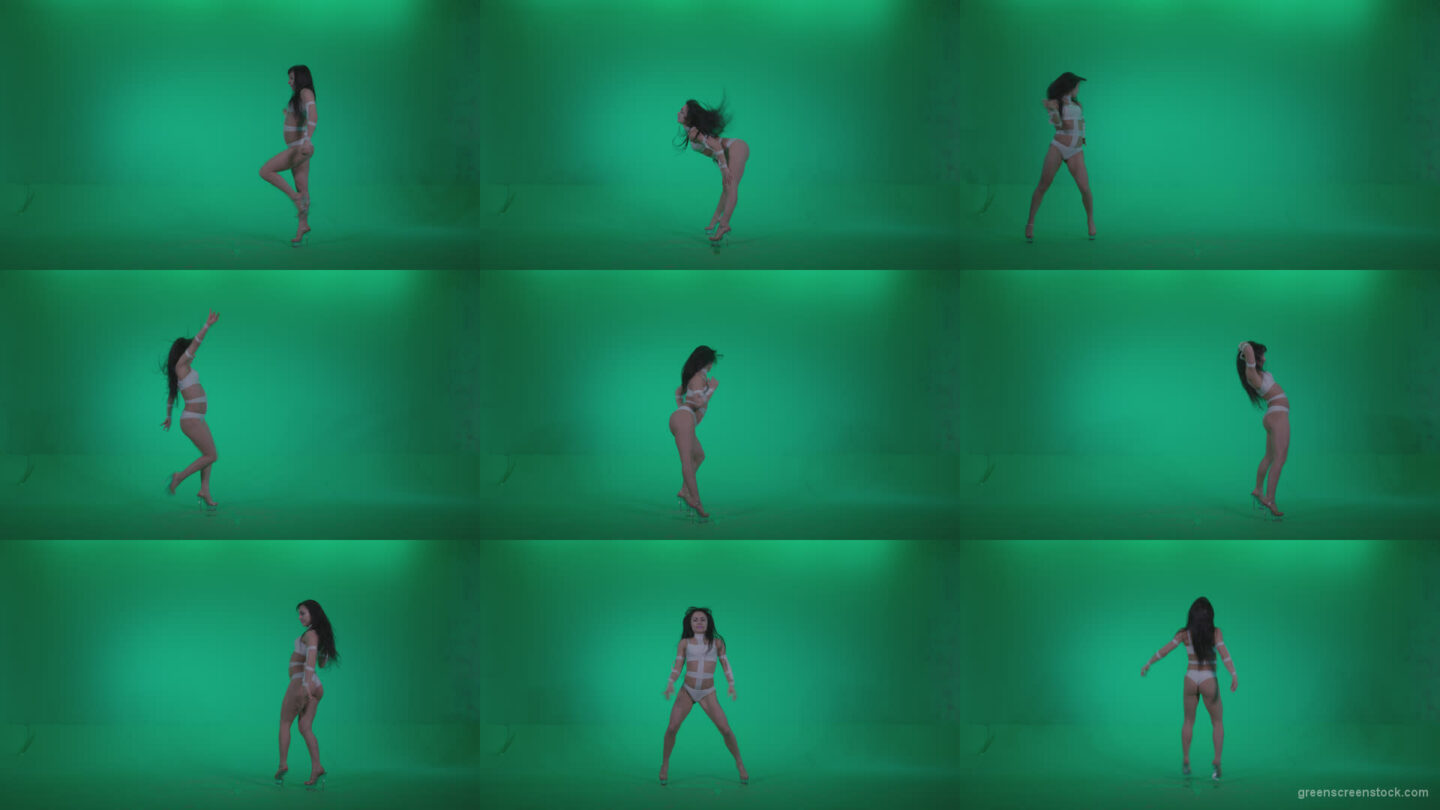 Go-go-Dancer-LiLu-e6-Green-Screen-Video-Footage Green Screen Stock