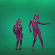 Go-go-Dancer-Pink-flowers-f1-Green-Screen-Video-Footage_004 Green Screen Stock