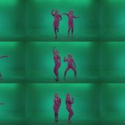 Go-go-Dancer-Pink-flowers-f2-Green-Screen-Video-Footage Green Screen Stock