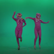 Go-go-Dancer-Pink-flowers-f2-Green-Screen-Video-Footage_002 Green Screen Stock