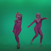 vj video background Go-go-Dancer-Pink-flowers-f2-Green-Screen-Video-Footage_003