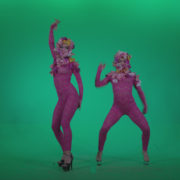 Go-go-Dancer-Pink-flowers-f2-Green-Screen-Video-Footage_005 Green Screen Stock