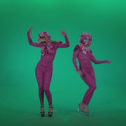 Go-go-Dancer-Pink-flowers-f2-Green-Screen-Video-Footage_007 Green Screen Stock