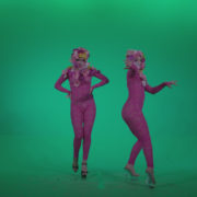 Go-go-Dancer-Pink-flowers-f2-Green-Screen-Video-Footage_009 Green Screen Stock