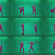 Go-go-Dancer-Pink-flowers-f3-Green-Screen-Video-Footage Green Screen Stock