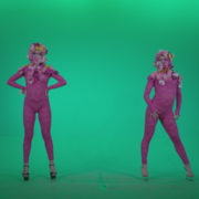 Go-go-Dancer-Pink-flowers-f3-Green-Screen-Video-Footage_001 Green Screen Stock