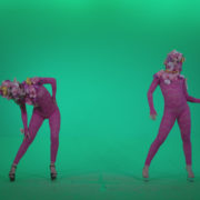Go-go-Dancer-Pink-flowers-f3-Green-Screen-Video-Footage_002 Green Screen Stock
