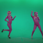 Go-go-Dancer-Pink-flowers-f3-Green-Screen-Video-Footage_006 Green Screen Stock