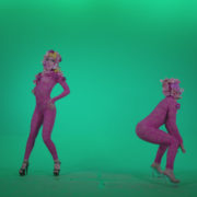 Go-go-Dancer-Pink-flowers-f3-Green-Screen-Video-Footage_007 Green Screen Stock
