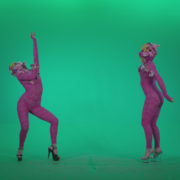 Go-go-Dancer-Pink-flowers-f3-Green-Screen-Video-Footage_009 Green Screen Stock