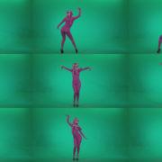 Go-go-Dancer-Pink-flowers-f7-Green-Screen-Video-Footage Green Screen Stock