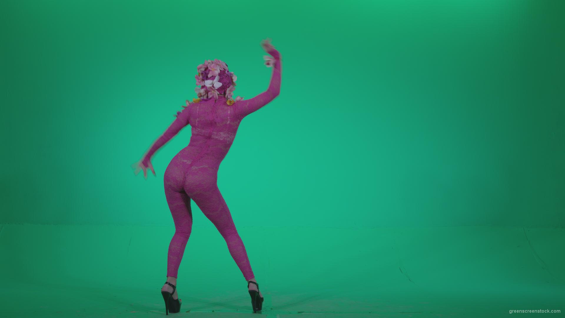 Go go dancer pink flowers f7 green screen video footage video go go dancer pink flowers f7 green screen mightylinksfo