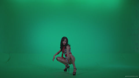vj video background Go-go-Dancer-Red-Dress-r1-Green-Screen-Video-Footage_003