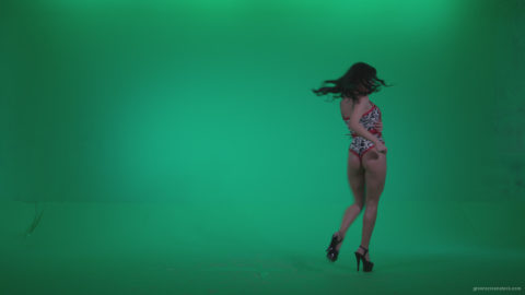 vj video background Go-go-Dancer-Red-Dress-r2-Green-Screen-Video-Footage_003