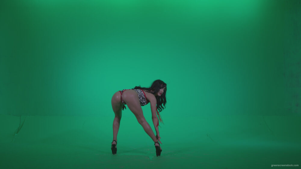 vj video background Go-go-Dancer-Red-Dress-r3-Green-Screen-Video-Footage_003