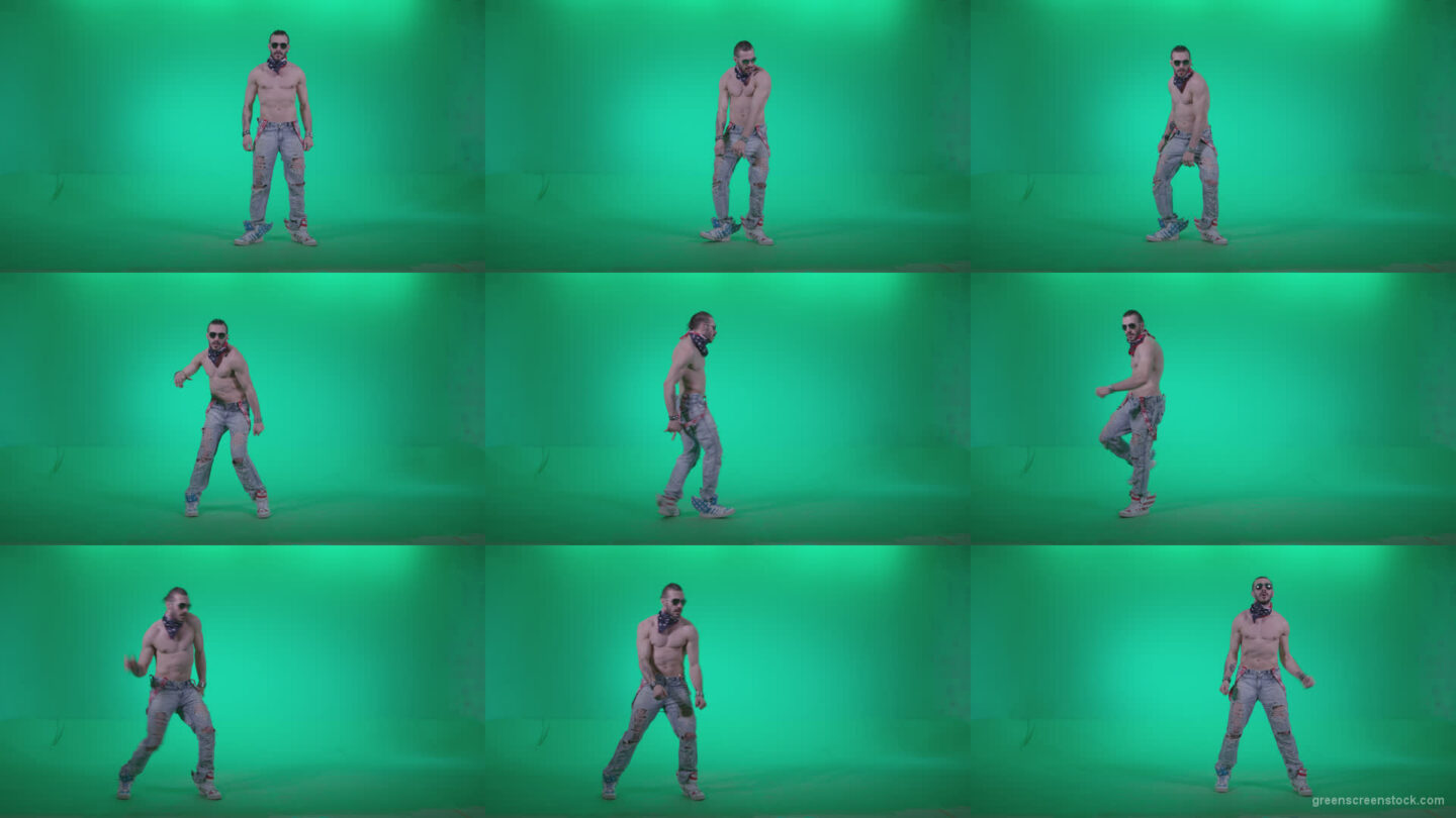 Go-go-Dancer-USA-f4 Green Screen Stock