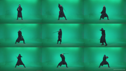 Go-go-Dancer-Warrior-w1 Green Screen Stock
