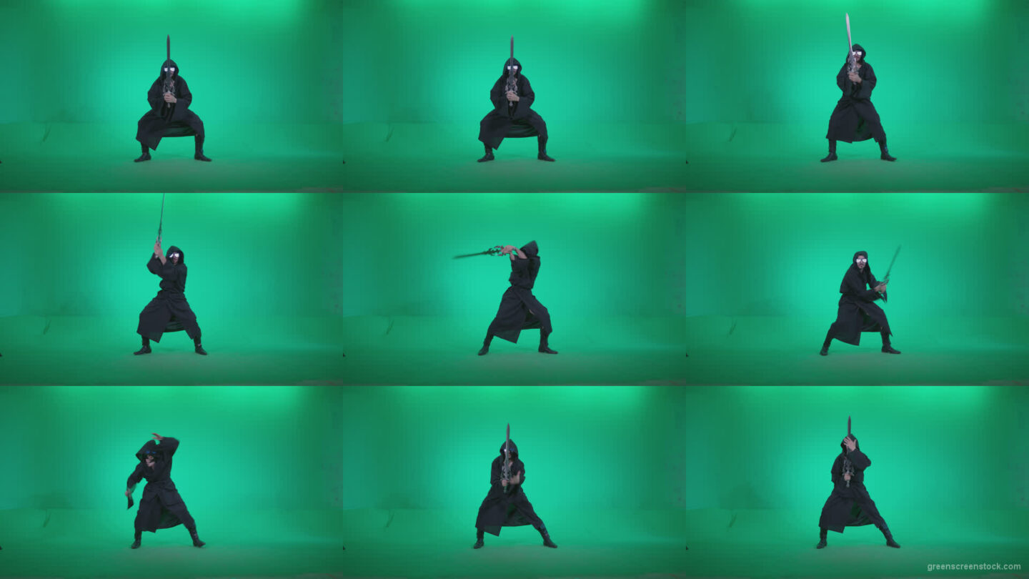 Go-go-Dancer-Warrior-w2 Green Screen Stock