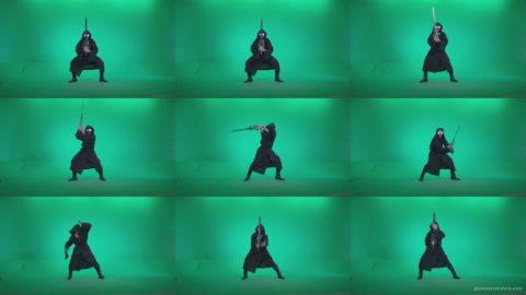 Go-go-Dancer-Warrior-w2 Green Screen Stock