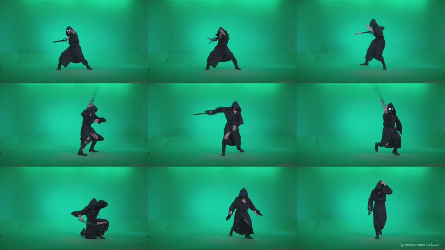 Go-go-Dancer-Warrior-w3 Green Screen Stock