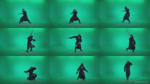 Go-go-Dancer-Warrior-w3 Green Screen Stock