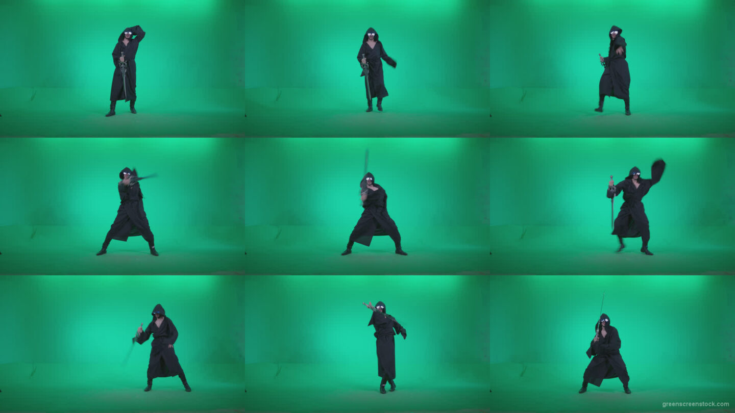 Go-go-Dancer-Warrior-w4 Green Screen Stock