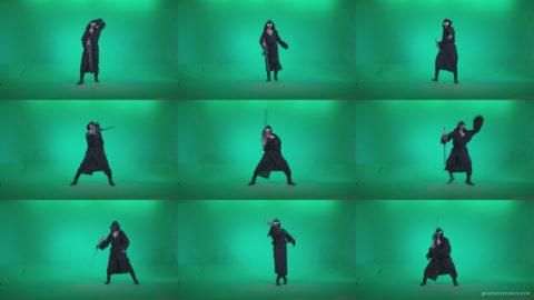 Go-go-Dancer-Warrior-w4 Green Screen Stock