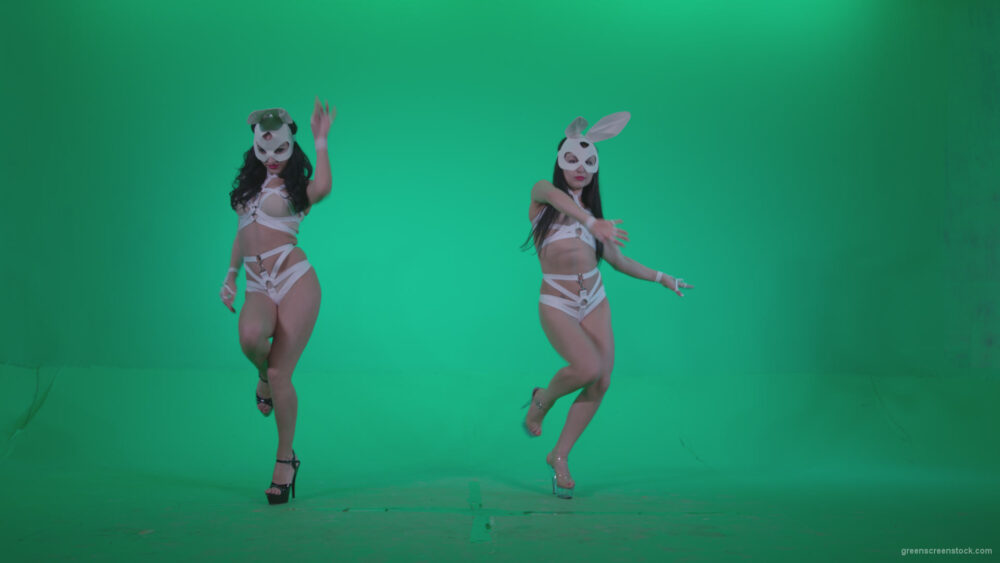 vj video background Go-go-Dancer-White-Rabbit-m1-Green-Screen-Video-Footage_003
