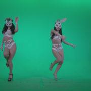 vj video background Go-go-Dancer-White-Rabbit-m1-Green-Screen-Video-Footage_003