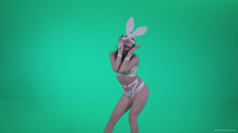 vj video background Go-go-Dancer-White-Rabbit-m11-Green-Screen-Video-Footage_003