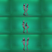 Go-go-Dancer-White-Rabbit-m3-Green-Screen-Video-Footage Green Screen Stock
