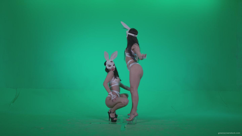 vj video background Go-go-Dancer-White-Rabbit-m4-Green-Screen-Video-Footage_003