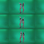 Go-go-Dancer-White-Rabbit-m5-Green-Screen-Video-Footage Green Screen Stock
