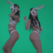 Go-go-Dancer-White-Rabbit-m6-Green-Screen-Video-Footage_002 Green Screen Stock
