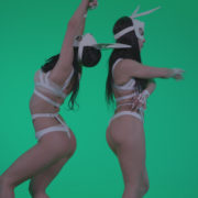 Go-go-Dancer-White-Rabbit-m6-Green-Screen-Video-Footage_005 Green Screen Stock
