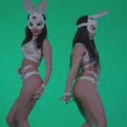 Go-go-Dancer-White-Rabbit-m6-Green-Screen-Video-Footage_007 Green Screen Stock